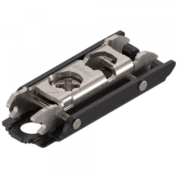 Blum Clip Top Montageplatte & Frontbefestigungen ONYX schwarz 0 mm
