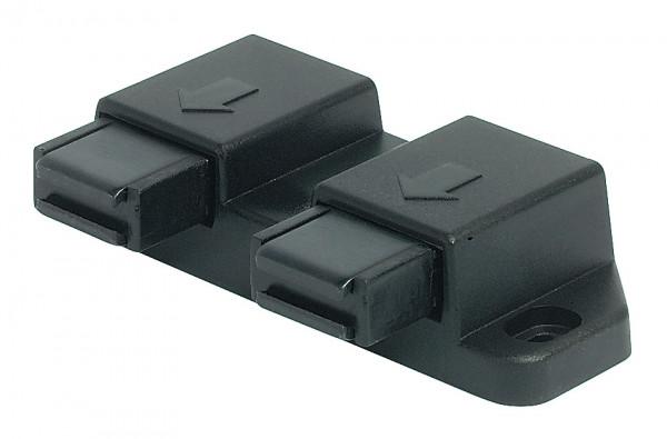 Häfele Magnet-Druckverschluss H6052 Haftkraft 2,5 kg zum Schrauben für 2-flügelige Glastüren