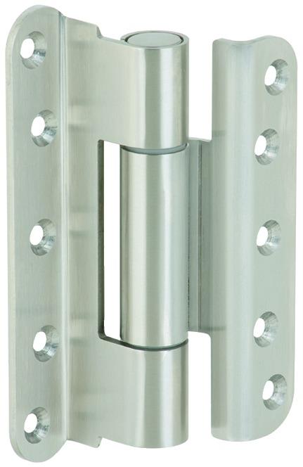 Häfele Startec Objekttürband, Größe 140 mm - für gefälzte Türen, Edelstahl
