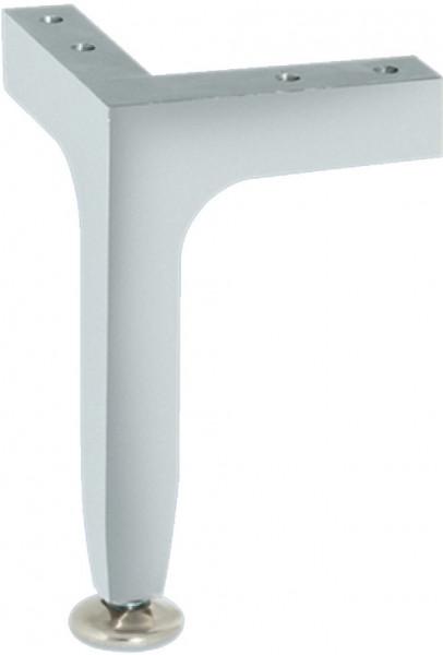 Häfele Möbelfuß H3915 mit Höheneinstellung zum Schrauben Aluminium 145 mm