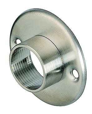 Häfele Schrankrohrlager für Schrankrohr rund Ø 20 mm zum Schrauben an die Seitenwand Edelstahl matt