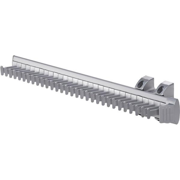 Krawattenhalter KEEPER aus Aluminium ausziehbar silber 454 mm