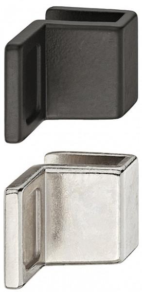 Häfele Glastürgriff H1008 Möbelgriff zum Aufklemmen für Glasdicke 4 - 6 mm