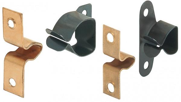 Federschnäpper CLICK aus Stahl zum Schrauben