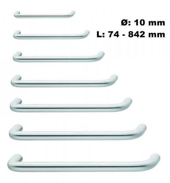 Möbelgriff GEOS 10 Edelstahl gebürstet Bogengriff Ø 10 mm