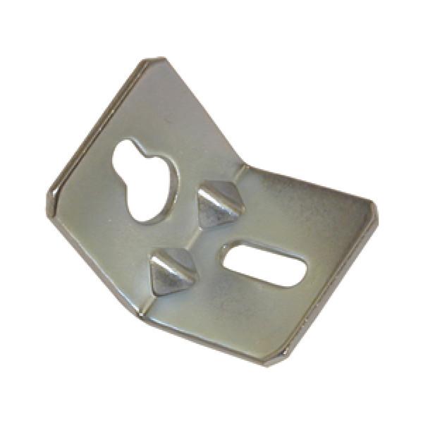 Winkel-Schrankaufhänger zum Schrauben 36x36x35x2,0 mm Stahl verzinkt