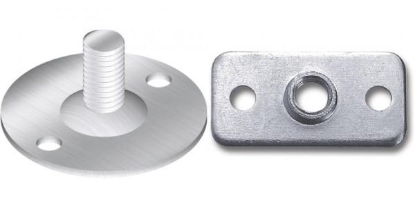 Montageplatte mit M8 Gewinde für Möbelfüße