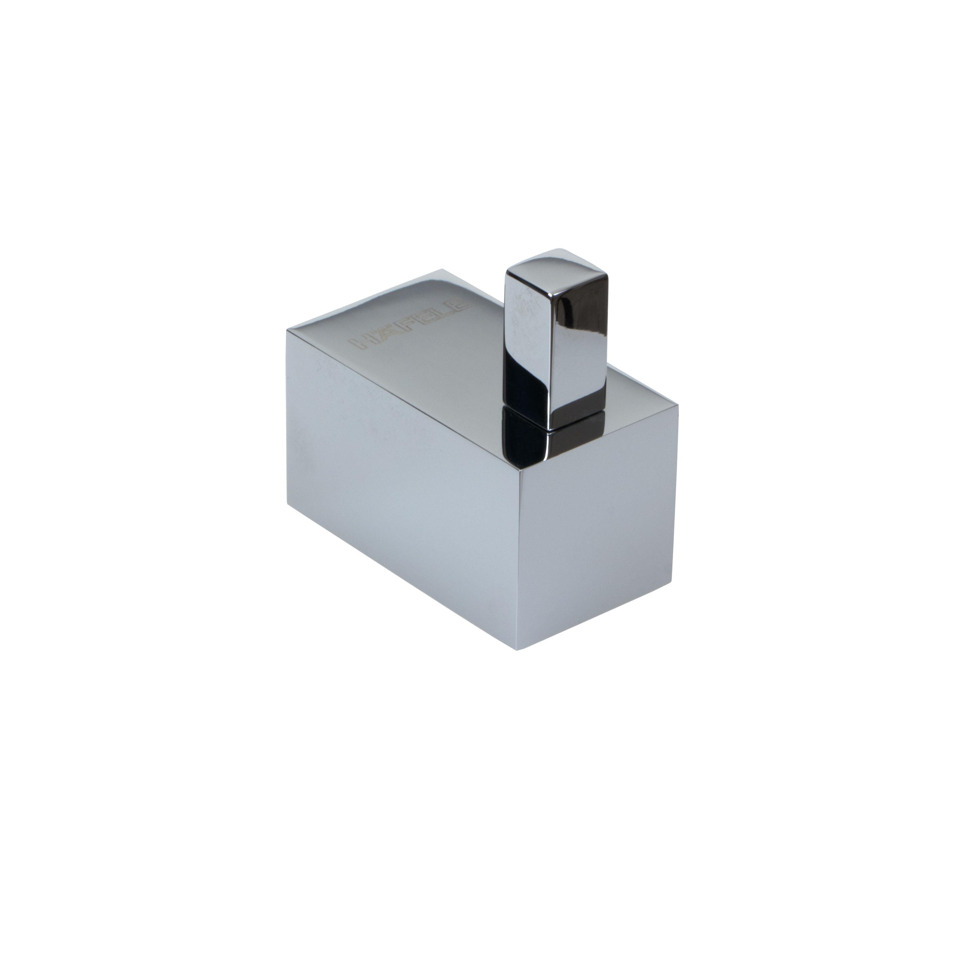 Häfele Handtuchhaken H2085 verchromt poliert eckig Messing Tiefe 38 mm
