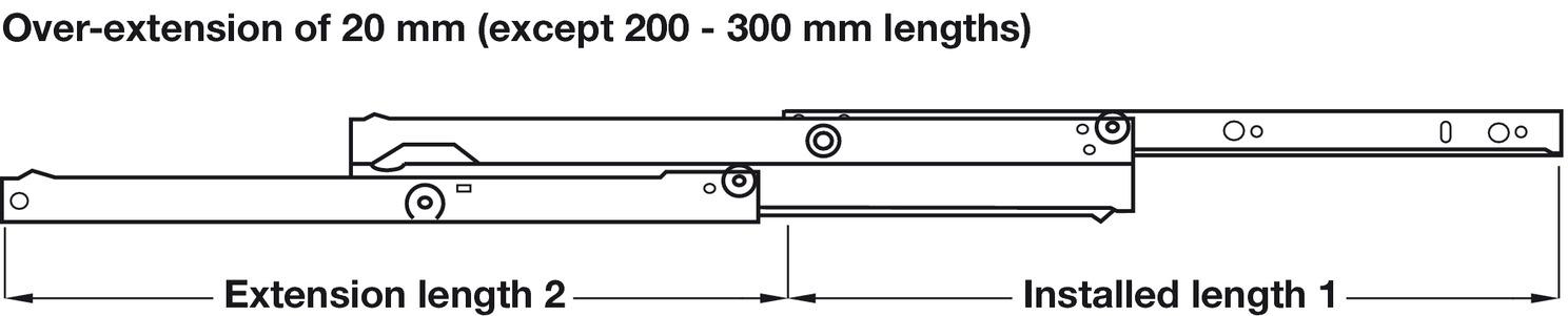 45 Kg Vollauszug Schubladenführung Schubladenschienen 500 mm Tragkraft 25 35