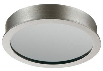 Häfele Ein-/Unterbauleuchte 12 V rund LED 1080 Aluminium Edelstahlfarben warmweiß
