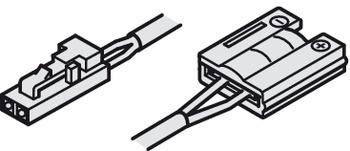 Häfele Zuleitung 12 V Steckersystem und Clip für 8 mm Loox LED Silikonband