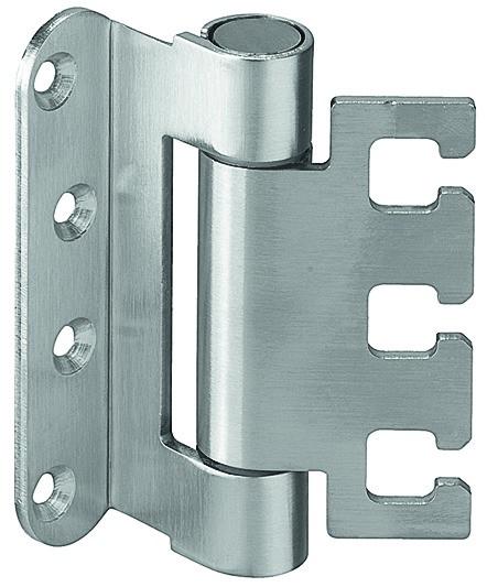 Häfele Startec Objekttürband, Größe 100 mm - Türband für Aufnahmeelement VX - für gefälzte Schallsch