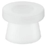 Häfele Keilhülse zum Schrauben für die verdeckte Montage Kunststoff weiß