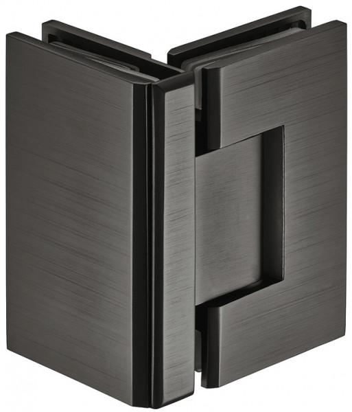 Häfele Duschtürband 90° H2050 Messing graphit-schwarz