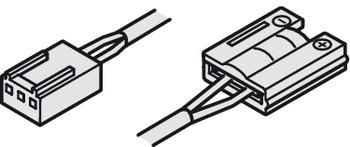 Häfele Zuleitung 24 V multi-weiß mit Clip für 10 mm Loox LED-Silikonband