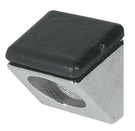 Häfele Bodenträger H3131 für Holz und Glas Ø 5 mm zum Schrauben