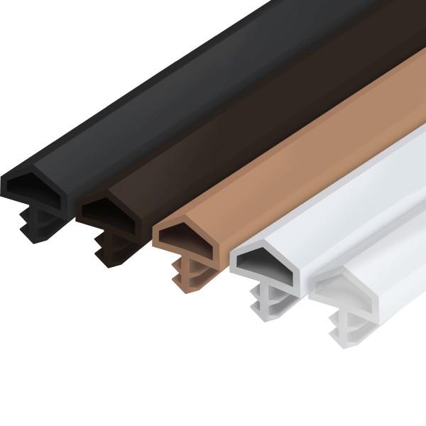 Zimmertürdichtung M680 aus PVC für Innentüren mit günstigem Drehpunkt