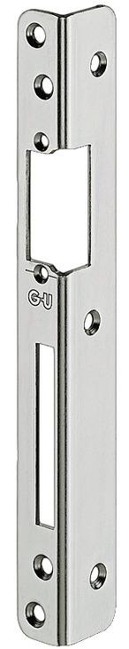 Häfele Sicherheits-Winkelschließblech vorgerichtet für Elektro-Türöffner und Austauschstücke 250 mm