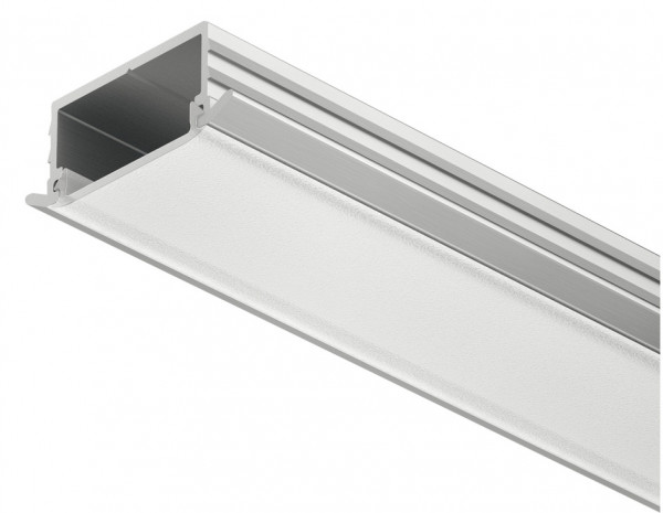 Häfele Einbauprofil Loox Tiefe 6,5 mm Aluminium Streuscheibe mattiert