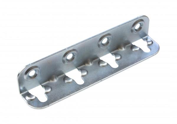Häfele Bettverbinder HS mit Schlüssellochstanzung Höhe 120 mm