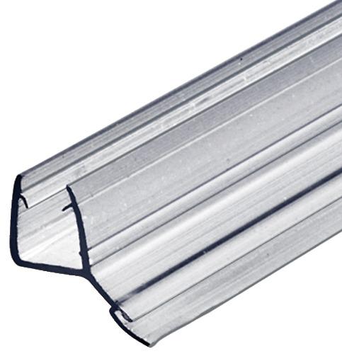 Aquasys Duschdichtung 135° Glas-Dichtung 8-10 mm Türdichtung Kunststoff Wasserabweiser