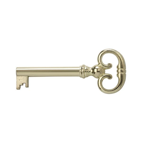 Möbelschlüssel H2163 für Möbelschlösser vermessingt