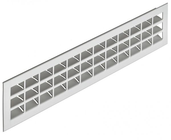 Häfele Lüftungsgitter H3638 eckig 550x80 mm Aluminium silberfarben eloxiert mit gerillten Stegen
