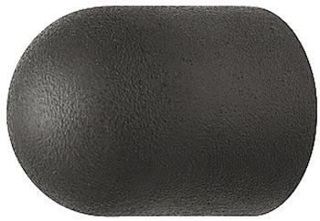 Häfele Möbelknopf H2082 Schrankknopf Gummi schwarz Ø 17 mm
