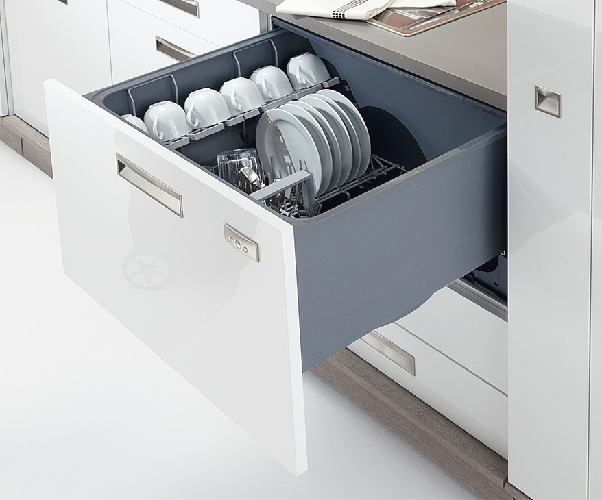 Häfele Schubladengeschirrspüler Stahl Kunststoff