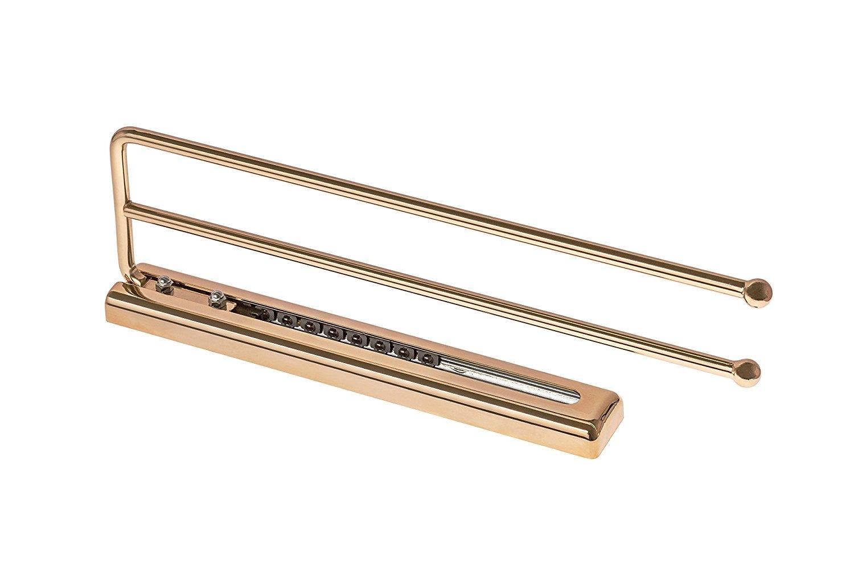 Handtuchhalter SERENA-B Handtuchauszug vergoldet poliert 410 mm zweiarmig