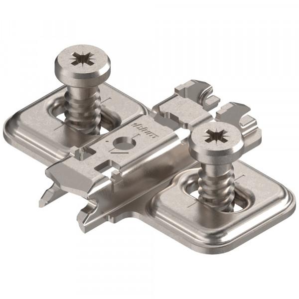Blum Clip Top Kreuzmontageplatte mit Euroschrauben 0 mm 173L8100