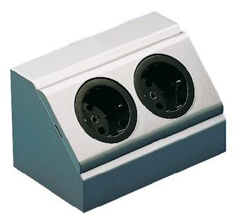 Häfele Steckdosen-Element 230 V Energiebox 2-fach Schuko-Steckdose