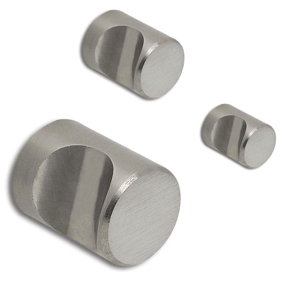 Möbelknopf Edelstahl-Optik Ladenknopf ANKER Möbelgriff Küche Kastenknopf 40mm