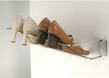 Häfele Schuhhalter stufenlos einstellbar zum Schrauben an die Wand oder an die Wandschiene Breite 46