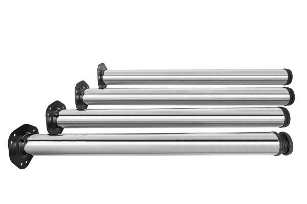 Tischbeine Stahl verchromt