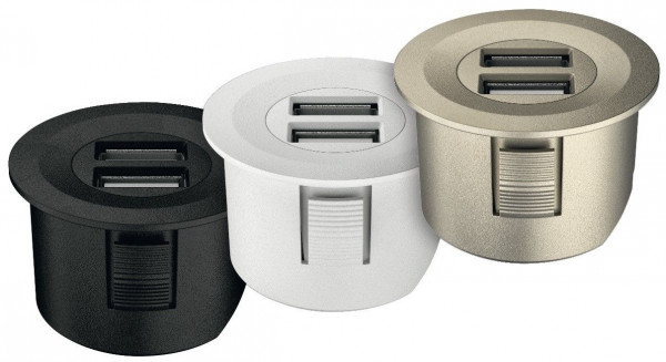 Häfele USB-Ladestation rund Loox ESC 2001 modular
