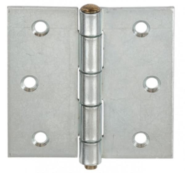Scharnier aus Stahl mit losem Messingstift quadratisch