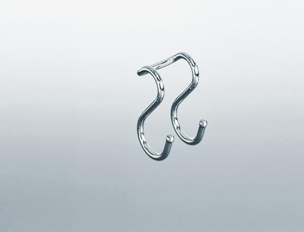 Kesseböhmer Einhängehaken Linero Doppelhaken für Rohr-Durchmesser Ø 16 mm
