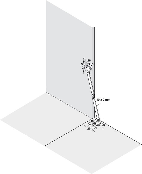 10x Häfele bremsklappenhalter klappenhalter Klappenbeschlag für klappen aus holz