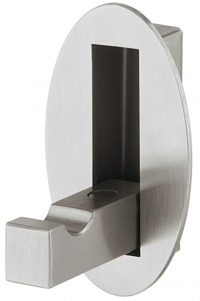 Häfele Klapphaken H3848 Edelstahl gebürstet Garderobenhaken zum Klappen mit Magnet