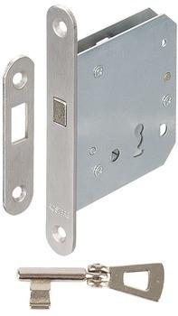 Startec Einsteckschloss für Schiebetüren Zirkelriegel Buntbart Dornmaß 55 oder 65 mm