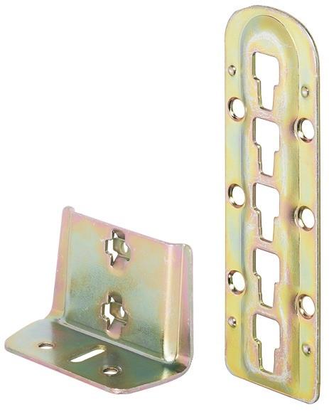 Häfele Bettverbinder für Mittelbalken- und Lattenrostauflage Höhe 140 mm