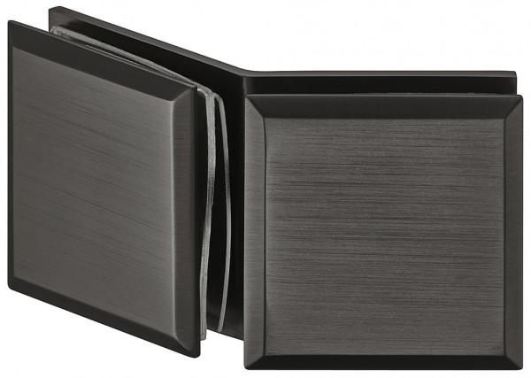 Häfele Glashalter H2228 für 135° Glasfront Messing graphit-schwarz