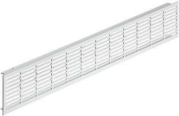Häfele Lüftungsgitter H3630 eckig 500x70 mm Aluminium silberfarben gerillter Steg