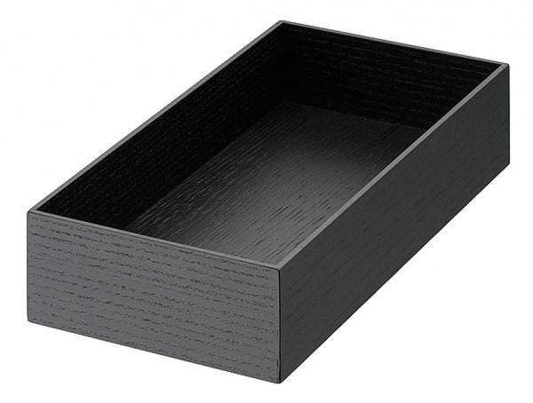 Häfele Kosmetikeinsatz H4122 Holz für Schubladen Esche schwarz 255x125x55 mm
