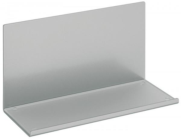 Häfele Ablageelement mit satinierter Glasplatte Relingsystem magnetisch Stahl