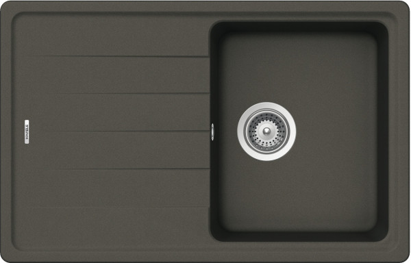 Aufbauspüle AS01S mit kleinem Becken 780 x 500 mm Anthrazit
