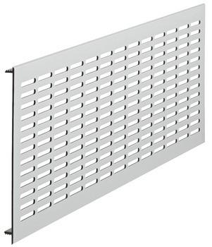 Häfele Lüftungsgitter H3639 eckig 480x150 mm Aluminium silberfarben mit Harpunensteg geschlitzt