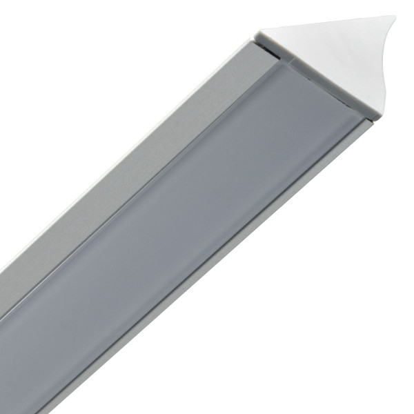 Loox LED-Profil aus Aluminium 18,5 mm Streuscheibe milchig