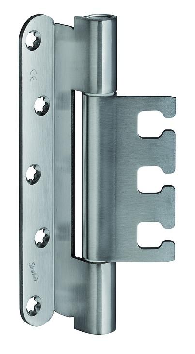 Häfele Startec Objekttürband, Größe 160 mm - Türband für Aufnahmeelement VX - für gefälzte Türen, 18